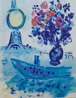 Bateau-Mouche au bouquet, Marc Chagall